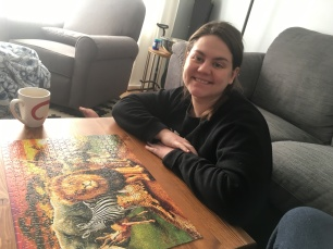 We did a LOT of puzzles as a distraction leading up to delivery!